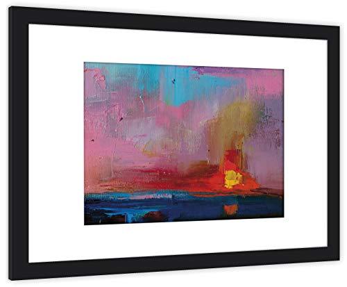 GaviaStore Art Prints - Abstracto 10 - con Marco 70x50 cm - Cuadros Impresiones Pintura Cartel Foto Mueble hogar impresion decoracion casa Sala Poster Cuadro Imagen Enmarcado Wall Picture