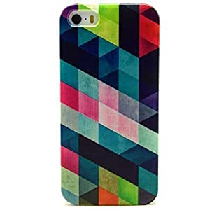 iPhone 5 Case, iPhone 5S Case - Sunshine Case Fashion Style Colorful Painted Colorful Rhombus TPU Case Back Cover Protector Skin For iPhone 5 5S(Rhombus)