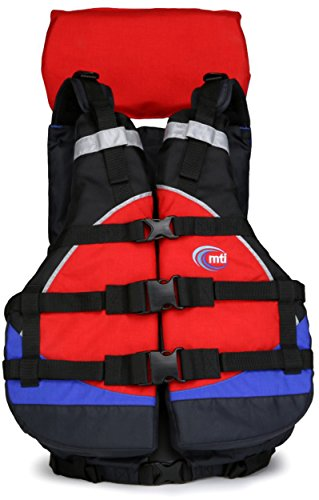 MTI Adventurewear Explorer Life Jacket, Red/Blue/Black, Universal Size