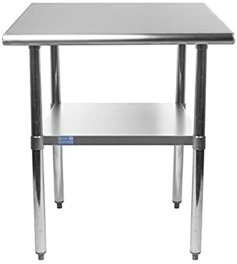 Amazoncom X Stainless Steel Work Table Small Kitchen - Small metal work table