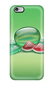 Premium Tpu Aqua Watermelon Cover Skin For Iphone 6 Plus