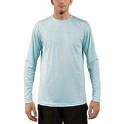 Vapor Apparel Men's UPF 50+ UV Sun Protection Performance Long Sleeve T-Shirt X-Large Arctic Blue