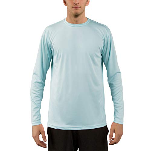 - Vapor Apparel Men's UPF 50+ UV Sun Protection Performance Long Sleeve T-Shirt Large Arctic Blue