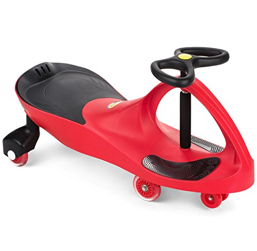The Original PlasmaCar by PlaSmart Inc. - Polyurethane PU Wheels - Red, Ride On Toy, Ages 3 yrs and up - No batteries, gears, or pedals, Twist, Turn, Wiggle for endless fun (Plasma Car Red)
