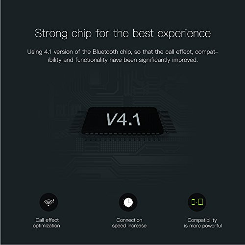 Padear Mini Invisible Bluetooth Earbud,V4.1 Stereo Wireless Bluetooth Earphone with Built-in Mic, Sports Noise Cancelling In-ear Earphone For Iphone Samsung And Other Android Phones (black) by padear (Image #8)
