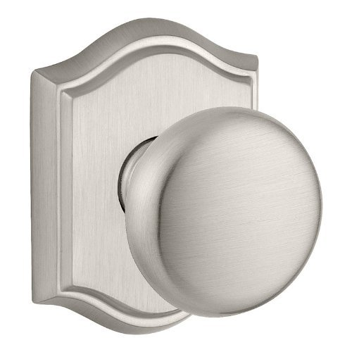 Baldwin ENROUTAR152 Reserve Entry Lockset x Round with Traditional Arch Rose, Matte Antique Nickel Finish by Baldwin