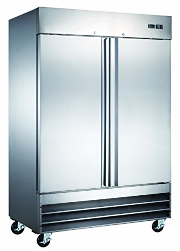 "Price comparison product image 54"" Commercial Reach In Stainless Steel Refrigerator CFD-2RR"