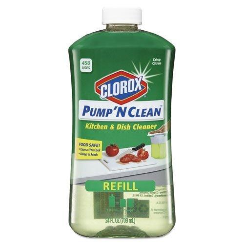 Clorox Pump 'N Clean Refill for Crisp Kitchen, Citrus Scent, 24 Fluid Ounce