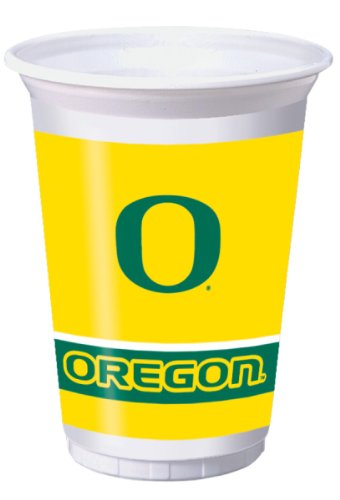 8-Count 20-Ounce Printed Plastic Cups, Oregon Ducks -
