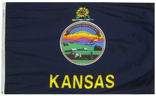 Annin Flagmakers Model 141860 Kansas State Flag 3x5 ft. Nylo