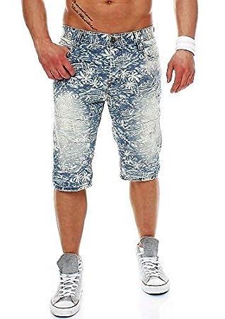 M.O.D Hombre Pantalones Cortos Vaqueros - Azul Claro Denim ...