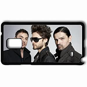 Personalized Samsung Note 4 Cell phone Case/Cover Skin 30 Seconds to Mars 27489 Black by runtopwell