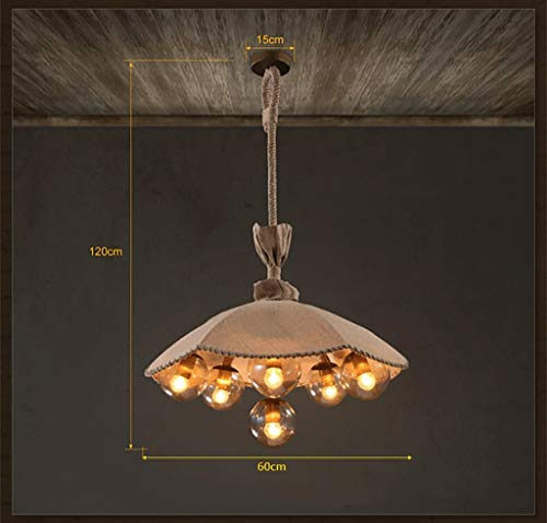 (XQY Decorative Chandelier, Bar Restaurant Ktv Bedroom Living Room Chandelier,Retro Chandelierloft American Village Retro Sapphire Light Horseshoe Bar Pendant Lamps)