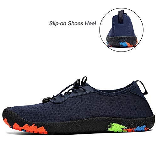 Outdoor River for Shoes Water Fishing Uminder Navy Mens Walking Beach Lightweight Breathable Shoe 4YcPanq