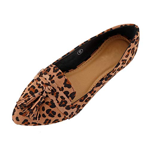 (Guilty Heart | Shilla-04 Leopard Suede, 8.5 )
