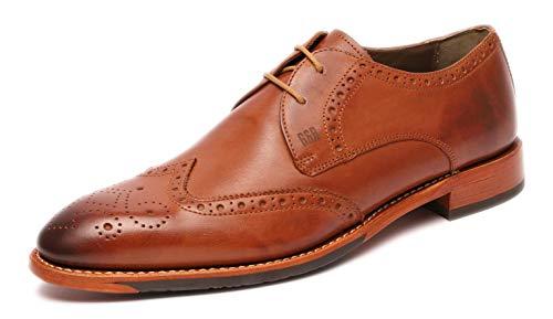 A500409 Homme Lacets Classique Chaussures À Coupe Cognac Marron Et amp; Gordon Bros vn1xZEaTq