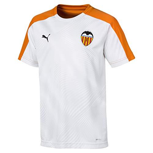 PUMA Valencia CF Stadium Primera Equipación 2019-2020 Niño, Camiseta, White-Vibrant Orange