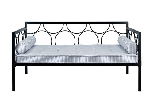 DHP Rebecca Metal Daybed Frame, Black, Twin