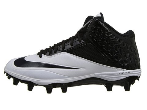 Mens Nike Lunar Kod Pro 3/4 Avtagbar Fotboll Cleat Svart / Vit Svart / Vit