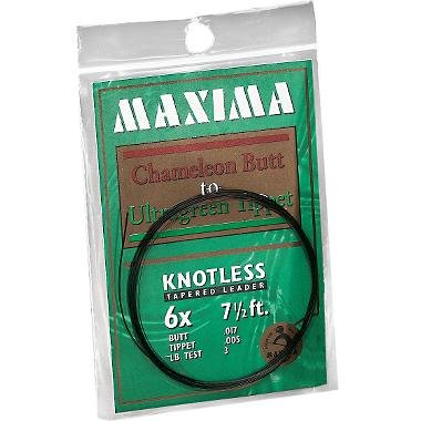 Maxima Fishing Line 7 1/2-Feet Knotless Tapered Leaders, Brown and Green, 4X