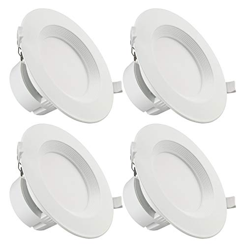 TORCHSTAR 4 PACK 6 Inch LED Recessed Downlight with Junction Box, 9W (80W Eqv.) Dimmable LED Ceiling Light Fixture, IC-Rated & Air Tight, Wet Location, 5000K Daylight, UL-listed, 5 Years Warranty
