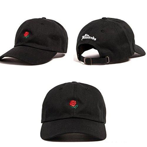 diseño de Gorra al rojo Rosa Rosas con béisbol de Bordadas Hombre collectsound Aire Libre xT4wIqXq