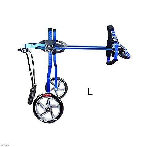 PLDDY Bolsa de mascotas Bicicleta de 2 ruedas para mascotas, Silla de ruedas ajustable para