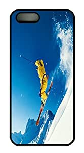 Fashional Style Black Pc For HTC One M9 Phone Case Cover - Interesting Skiing - Snowflake