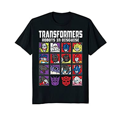 Transformers Multi Robot Grid T-Shirt