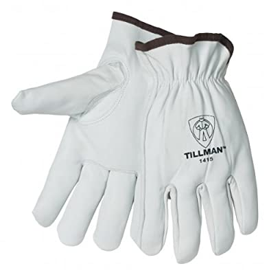 Tillman 1415 Unlined Top Grain Goatskin Drivers Gloves, Medium