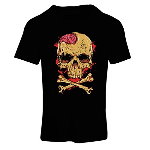 lepni.me T Shirts For Women Skull and Bones - Vintage, 80s, Rock and Roll Bands (XX-Large Black Multi Color)