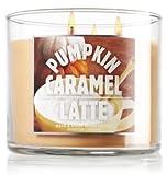 Bath and Body Works 14.5 Oz 3-wick Candle Pumpkin Caramel Latte