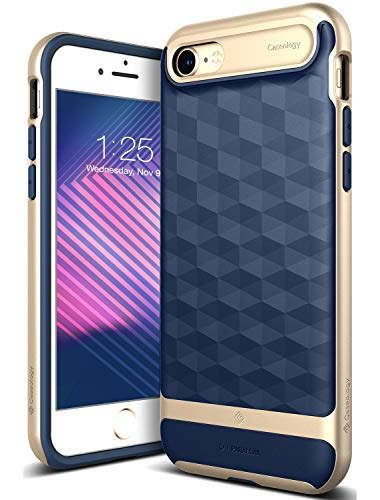 Solid Dark Blue Case Cover - Caseology Parallax Series iPhone 8/7 Cover Case with Design Slim Protective for Apple iPhone 7 (2016) / iPhone 8 (2017) - Navy Blue