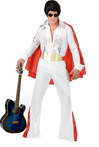 Plus Size Rock Star Costumes - Charades Men's Plus Size Rhinestone Rock