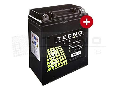 DIN 51213 TECNO-GEL Motorrad-Batterie YB12AL-A2 // -A Pfand 134x80x161 mm inkl 12V Gel-Batterie 12Ah