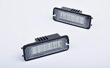 jdwg 2pcs lámpara luz de la matrícula LED del compartimiento Equipaje ligero 65000 K coche coche