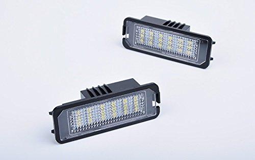 JDWG 2pcs lampada Luce della targa led del vano bagaglio leggero 65000k auto auto bianca ha condotto tronco luce luce del bagagliaio