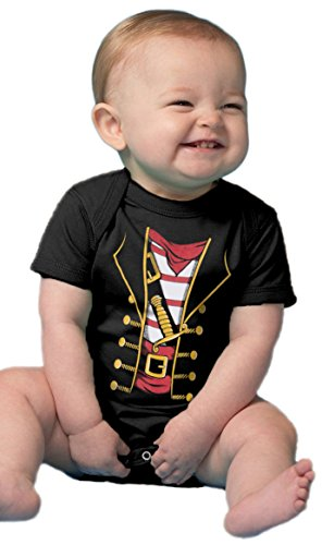 Ann Arbor T-shirt Co. Baby Pirate Buccaneer | Cute Funny Halloween Costume Infant One Piece Bodysuit-(1piece,6M) ()