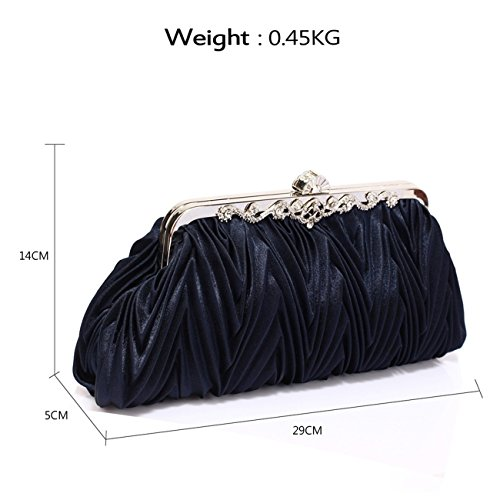 Bag CRYSTAL Dress Purse Bags BAG Handbags Fashion Prom Clutch Purse LeahWard® For School Bridal Women Women's NAVY Evening Crystal wYTvxqxAp7