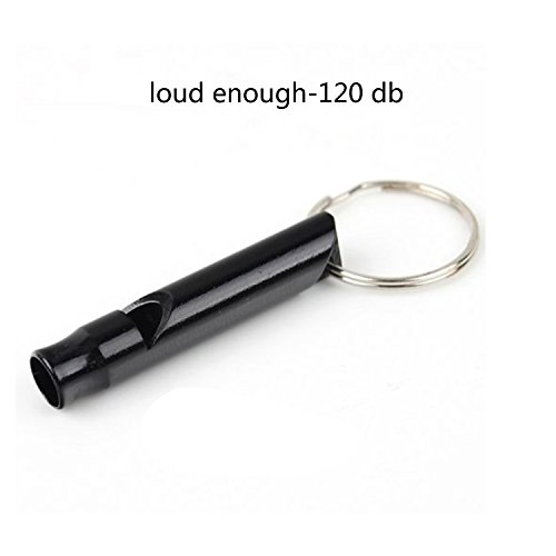 Woodcovo Mini Whistle Aluminum EDC Sport Emergency Survival with Key Chain Pack of 5