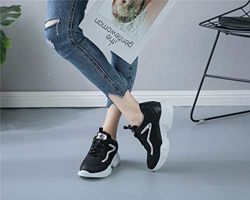 Wild Mesh Ladies Zapatos de Summer Sneakers Shoes Un Mujer Shoes Invisible Inferior Increase Parte Fall Gruesa Walking New Transpirable qXa0qp