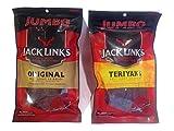 Jack Links Jumbo Beef Jerky Variety 2 Pack - Original & Teriyaki (230 Gram x 2)