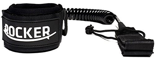 Price comparison product image iROCKER SUP Premium Ankle Leash 10' Coiled Super Strong 7 mm Cord