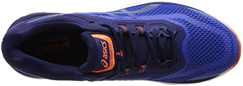 Scarpe Da Corsa Asics Uomo Gt-2000 6-t805n, Blu Nero (blu Imperiale / Indaco / Arancione Scioccante 4549)