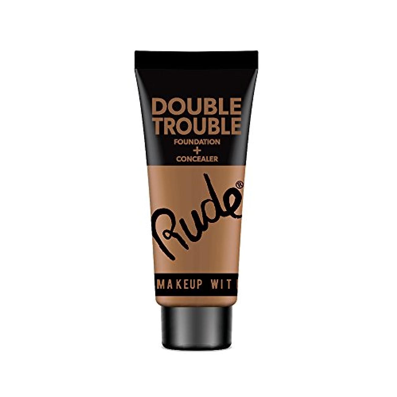 心理的に作業ファイルRUDE Double Trouble Foundation + Concealer - Espresso (並行輸入品)