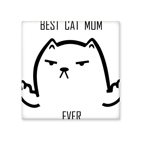 lovely Animal Protector Pet Lover Pet Slave Comic Style Cartoon Best Cat Dad ever Creative Pattern Ceramic Bisque Tiles for Decorating Bathroom Decor Kitchen Ceramic Tiles Wall Tiles
