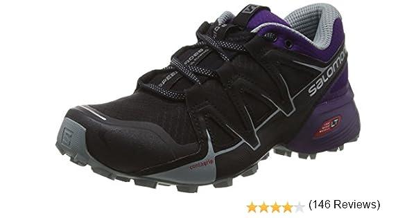 Salomon Speedcross Vario 2, Zapatillas de Trail Running para Mujer, Negro (Black/Acai/Lead), 45 1/3 EU: Amazon.es: Zapatos y complementos