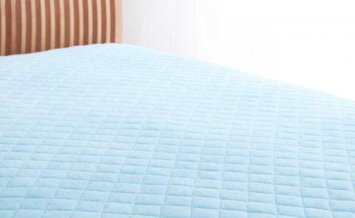 綿100%で快適!敷パッド 同色2枚セット (セミダブル) パウダーブルー B072DZSH57 セミダブル|パウダーブルー パウダーブルー セミダブル