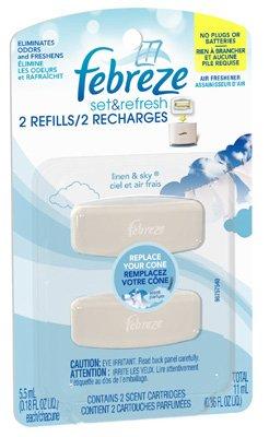 Procter & Gamble 45009 2ct Febreze Set & Refresh Refill, Linen & Sky Scent, 2 count - Quantity 8