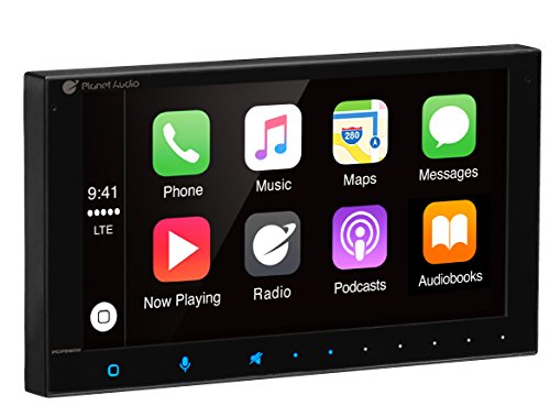 PLANET AUDIO PCP9800 Double Din, Apple CarPlay, Bluetooth, MP3/USB (No CD/DVD) AM/FM Receiver, 6.75'' Capacitive Touchscreen by Planet Audio